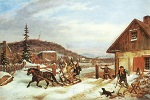 The Toll Gate by Cornelius Krieghof (1859)